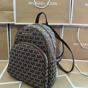 $298 Michael Kors Abbey Backpack Handbag MK Bag